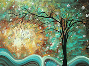 Abstract Fine Art Paintings - Pretty as a Picture by MADART by Megan Duncanson