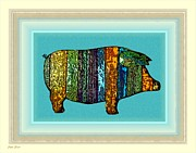 Pig Digital Art - Pretty as a Pig-ture by Dale   Ford