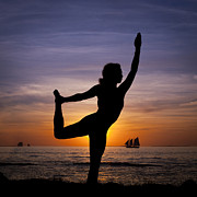 Yoga Images Prints - Pretty As A Print by Scott Meyer