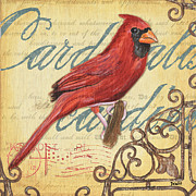 Cardinal Metal Prints - Pretty Bird 1 Metal Print by Debbie DeWitt