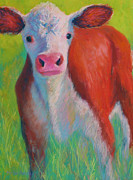 Barnyard Animal Pastels Posters - Pretty Boy Poster by Becky Roesler