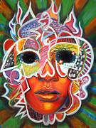 Pretty Hot Skull Print by Ray Arcadio