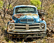 Junkyard Framed Prints - Pretty In Blue Too Framed Print by Robert Albrecht