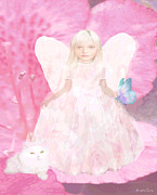 Little Girls Room Mixed Media - Pretty in Pink by Amelia Carrie