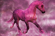 Trotting Art - Pretty in Pink by Betsy A Cutler East Coast Barrier Islands
