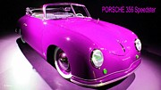 Hand Crafted Art - Pretty in Pink Porsche by George Pedro