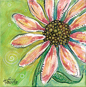 Light And Dark   Paintings - Pretty in Pink by Tanielle Childers