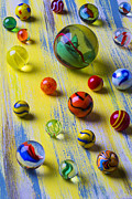 Spheres Metal Prints - Pretty Marbles Metal Print by Garry Gay