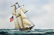 American Flag Painting Originals - Pride of Baltimore II by James Williamson