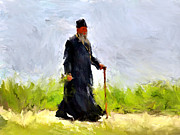 Siberia Digital Art - Priest at Walk by Yury Malkov