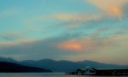 Boathouses Photos - Priest Lake at Dusk II by David Patterson