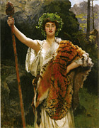 Collier Framed Prints - Priestess Bacchus Framed Print by John Collier