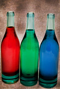 Bottle Green Posters - Primary Colors Poster by Bill  Wakeley