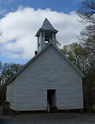Primative Baptist Church In Cades Cove Print by Roger Potts