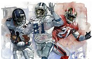 Nfl Mixed Media Framed Prints - PrimeTimes Framed Print by Michael  Pattison