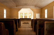 Gatlinburg Art - Primitive Baptist Church by Lena Auxier