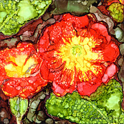 Primroses Paintings - Primroses I by Vicki Barry