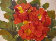 Primroses Paintings - Primroses by Susan Gutting