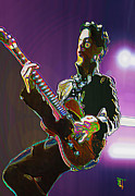 Celebrity Digital Art Framed Prints - Prince Framed Print by Byron Fli Walker