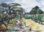 Uk Mixed Media - Prince Charles Gardens by Helena Bebirian