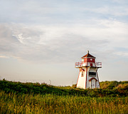 Evening Light Prints - Prince Edward Island Lighthouse Print by Marion McCristall