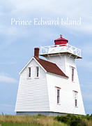 Lighthouse Photo Framed Prints - Prince Edward Island Lighthouse Poster Framed Print by Edward Fielding