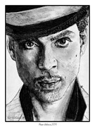 Songwriter Drawings Posters - Prince Nelson in 2006 Poster by J McCombie