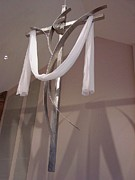 Steel Sculptures - Prince of Peace Cross by Mac Worthington