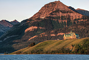 Prince Of Wales Prints - Prince Of Wales Hotel At Waterton Lakes Print by James Wheeler