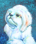 Puppy Prints - Prince the Little Dog Print by Carol Jo Smidt