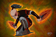 Avatar Paintings - Prince Zuko - Firebender by Apoorv Jain