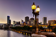Princes Prints - Princes Bridge Lights Print by Craig Francisco
