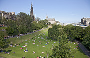 Princes Framed Prints - Princes Street Gardens Framed Print by Liz Leyden