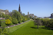 Princes Framed Prints - Princes Street Gardens Framed Print by Ross G Strachan