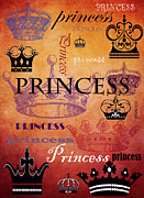 Angelina Vick Mixed Media Posters - Princess 2 Poster by Angelina Vick