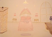 Decoration Pastels Posters - Princess Bedroom Poster by Christine Corretti