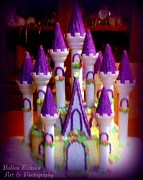 Princes Digital Art Posters - Princess Castle Poster by Bobbee Rickard