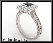 Roi Avidar - Princess Cut Black...