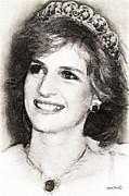 Princess Diana Print by Wayne Pascall