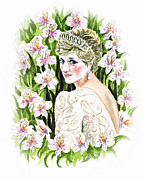 Princes Painting Framed Prints - Princess Dianna Framed Print by Irina Sztukowski