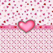 Hearts Digital Art - Princess Hearts and Polka Dots by Debra  Miller