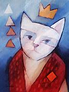 Abstract Cat Framed Prints - Princess Framed Print by Lutz Baar