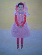 Make Believe Painting Posters - Princess Needs Pink New Hair Poster by Elizabeth Stedman