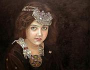 Ethnic Painting Prints - Princess of the East Print by Enzie Shahmiri