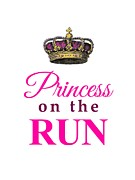 Jogging Mixed Media Prints - Princess on the Run Print by Li Or