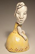 Figure Sculpture Ceramics Prints - Princess Print by Sharon Norwood