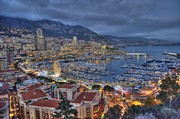 Sea View Pyrography Framed Prints - Principaute de Monaco view Framed Print by Luca Roveda