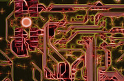 Motherboard Digital Art Prints - Printed Circuit - Motherboard Print by Michal Boubin