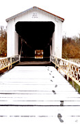 Covered Bridge Prints - Prints To The Bridge Print by Emily Stauring