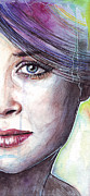 Watercolor Portrait Posters - Prismatic Visions Poster by Olga Shvartsur